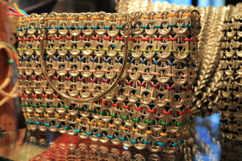 Large handmade purse for sale in the ArtWalk Shop